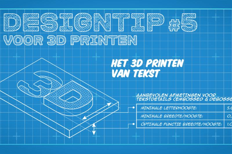 3D printen van tekst - Oceanz