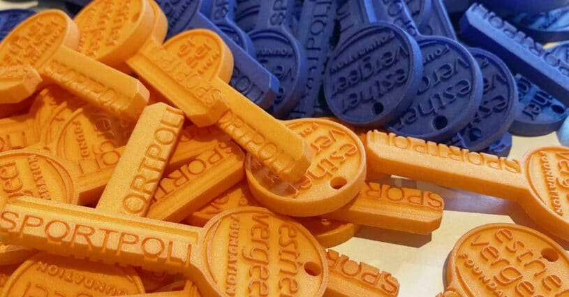 Give Away 3D Printen Sleutel Estafette Esther Vergeer Foundation Oceanz 3D Printing 2